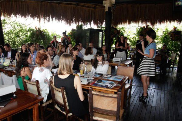 Almuerzo prensa internacional, presentación Inexmoda