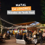 Os mercados de natal no South Bank