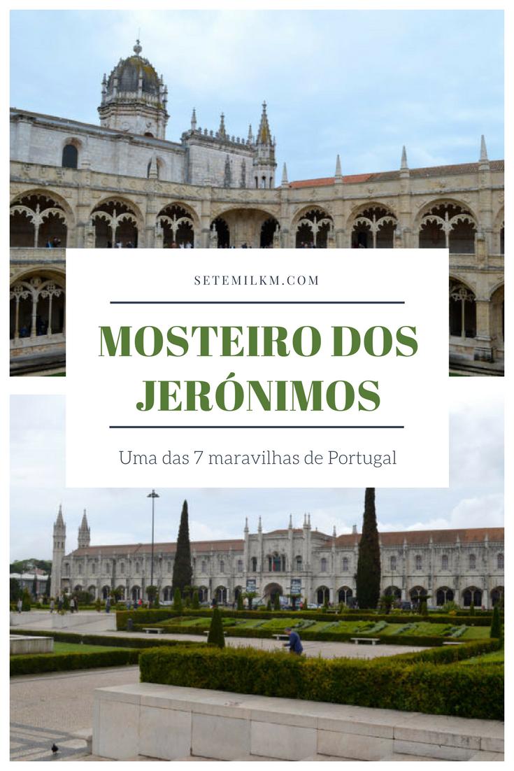 Mosteiro dos Jerónimos em Lisboa, uma das 7 maravilhas de Portugal