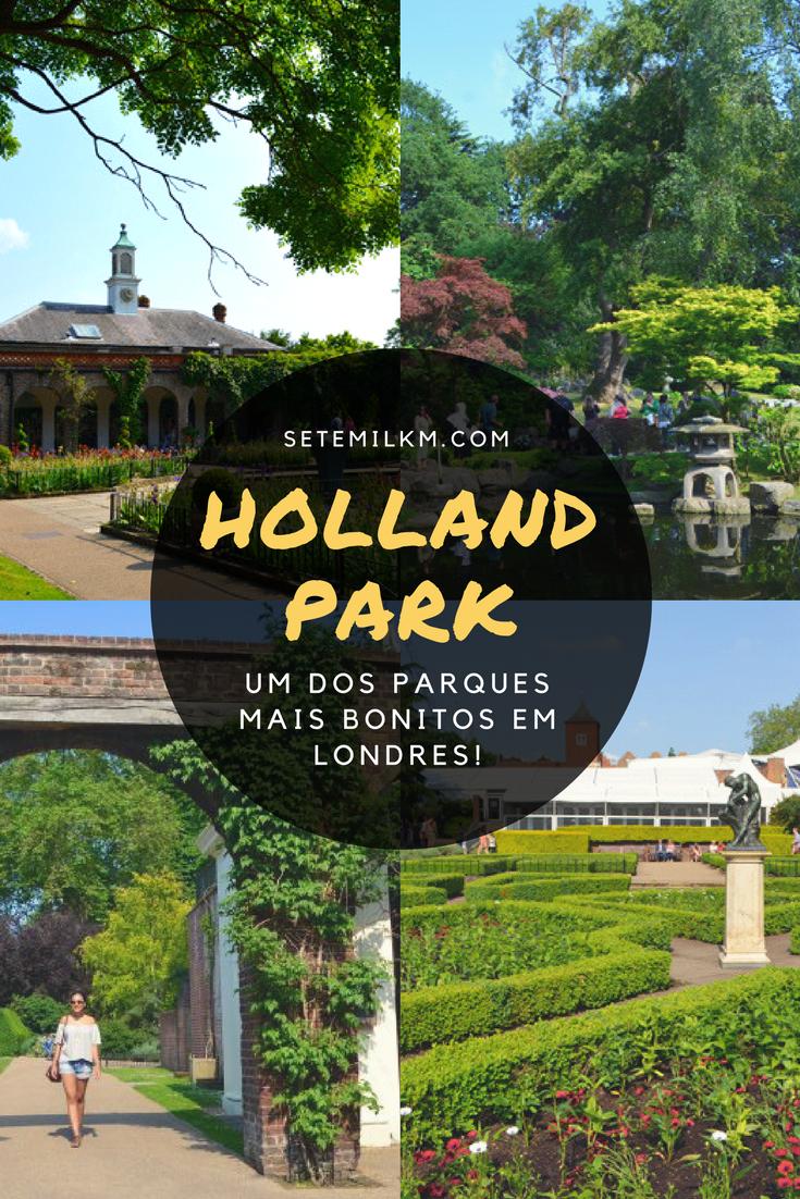 No Holland Park, um dos parques mais lindos de Londres, tem flores, pavões, um jardim japonês e muito mais!