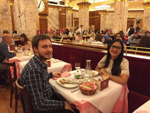 Brasserie Zedel Londres - cinco anos de namoro