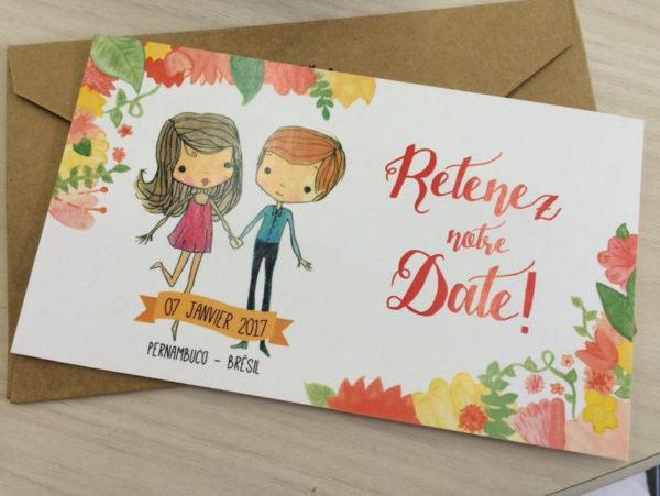 Save the date casamento na praia - Thaís & Nic