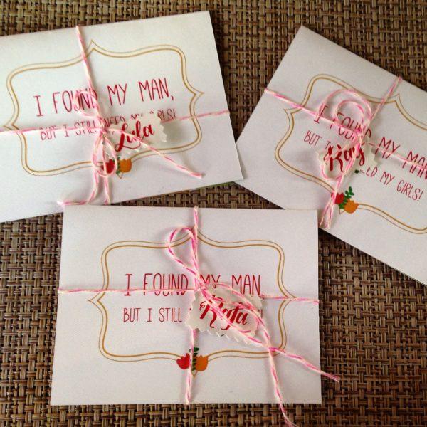 Convite das madrinhas - Casamento Thaís & Nic