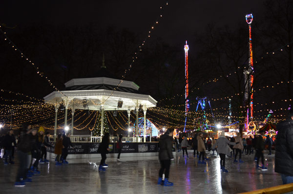 Winter Wonderland mercado de natal em Londres