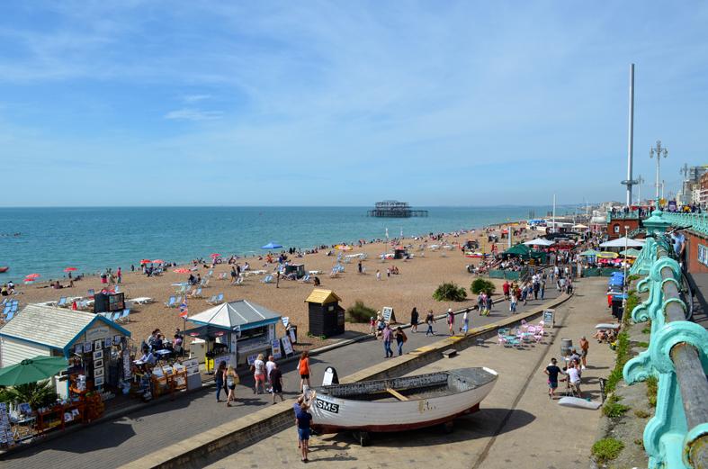 Vista da orla de Brighton - Sete Mil Km - Um dia em Brighton