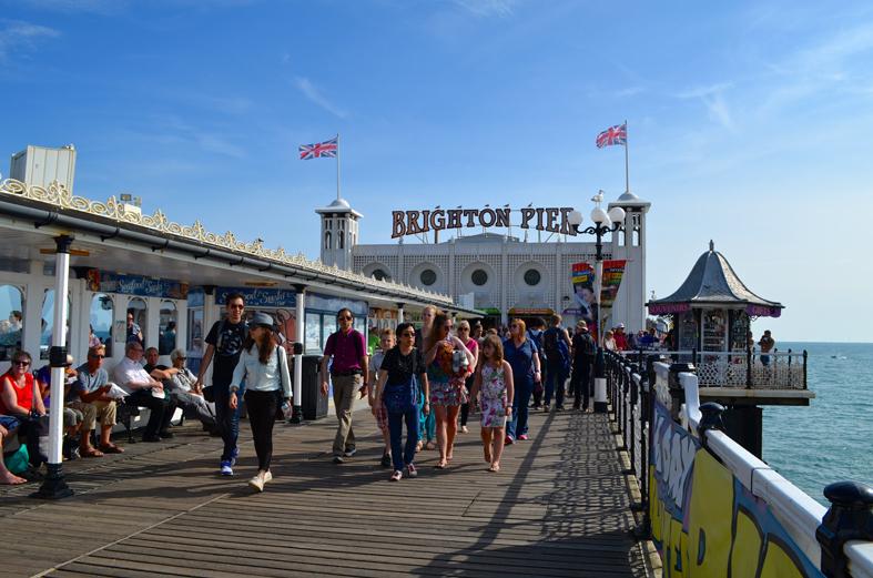 Píer e parque de diversões em Brighton - Sete Mil Km - Um dia em Brighton