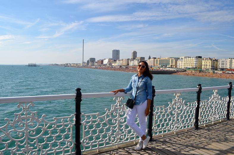 Vista do pier de Brighton - Sete Mil Km - Um dia em Brighton