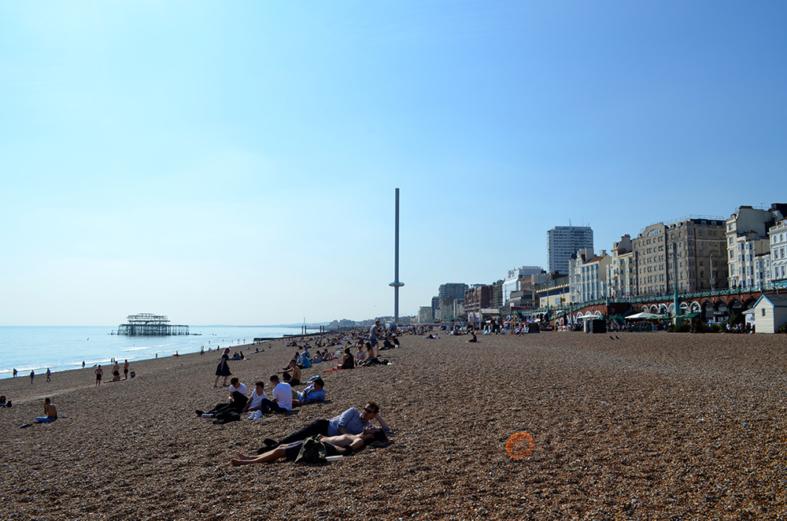 Praia de Brighton, Inglaterra - Sete Mil Km - Um dia em Brighton