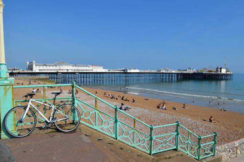 Vista do píer de Brighton, Inglaterra - Sete Mil Km - Um dia em Brighton