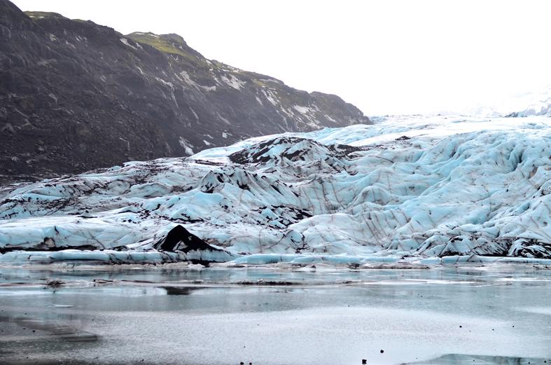 Geleira Solheimajökull - costa sul da Islândia