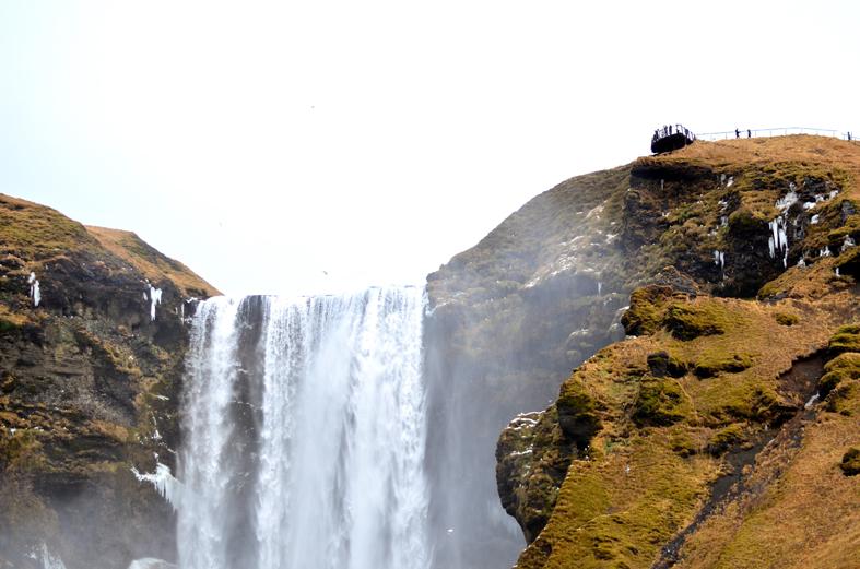 Cachoeira Skogafoss - costa sul da Islândia