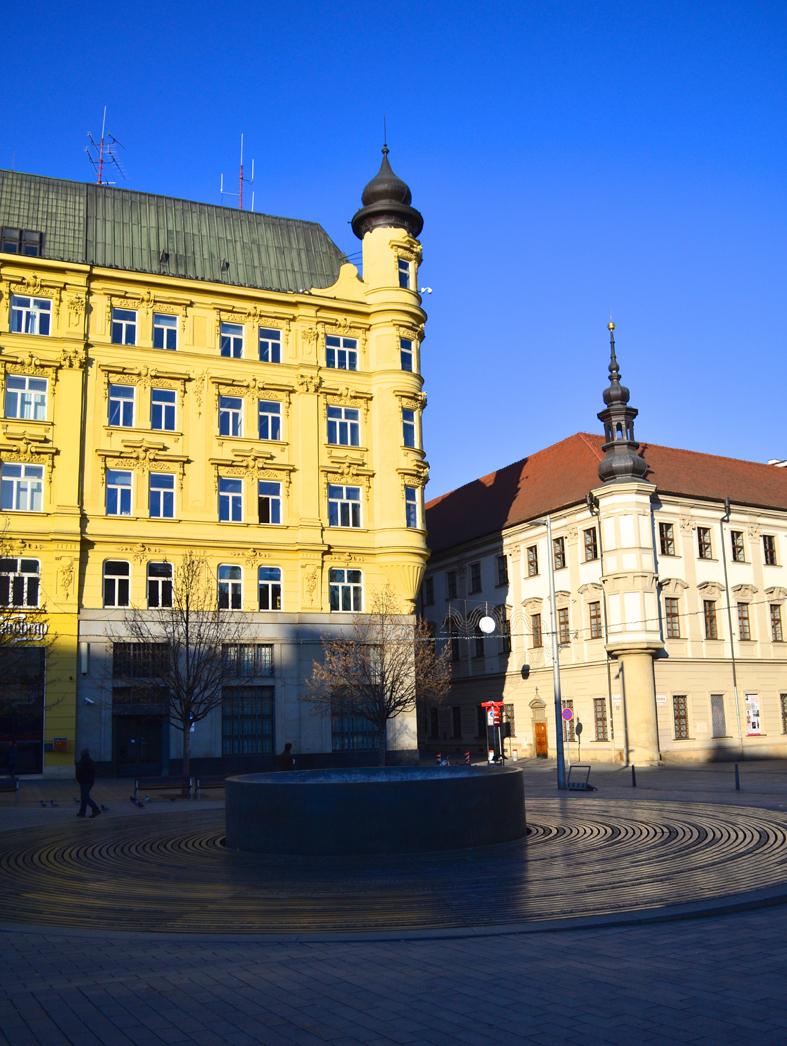 Praça em Brno, República Tcheca