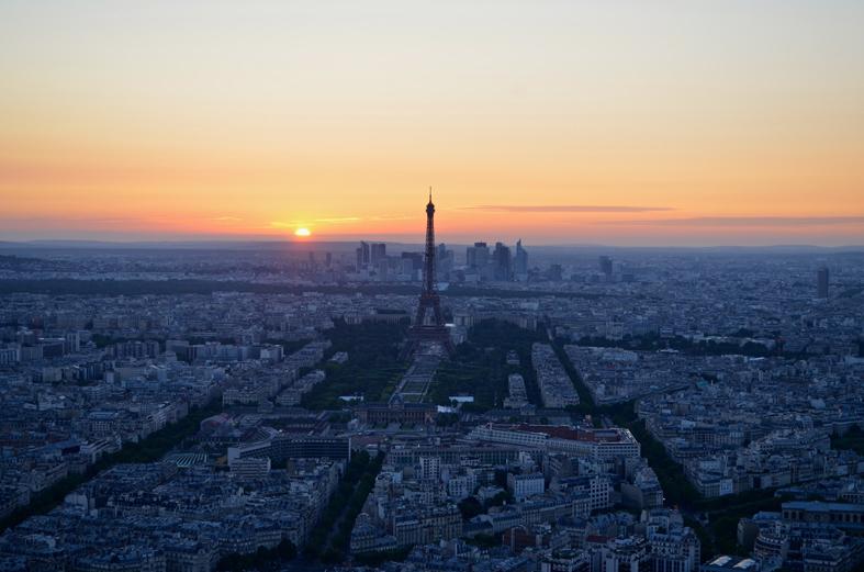Vista da Tour Montparnasse, em Paris