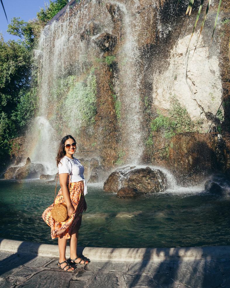 Cachoeira na Colline du Chatêau em Nice