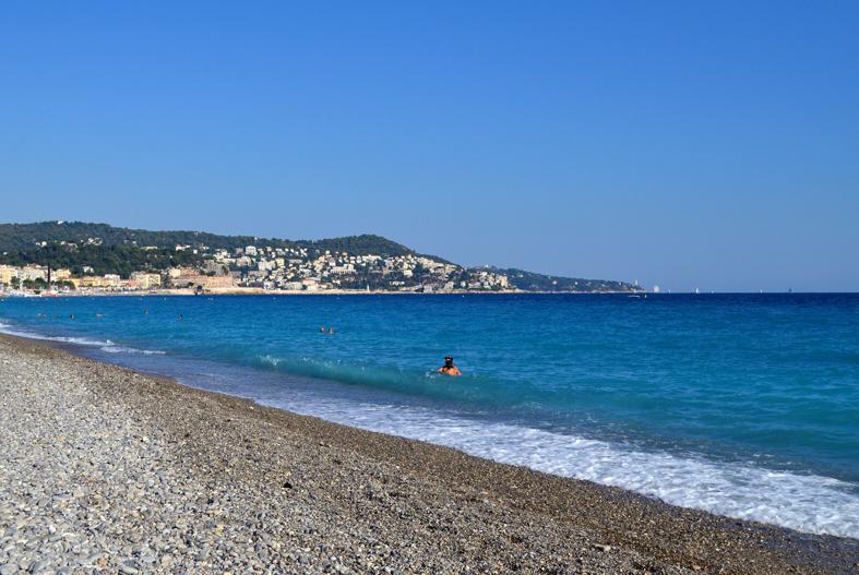 Praia em Nice, França