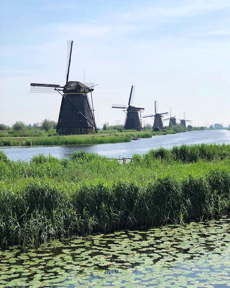 Moinhos em Kinderdijk, Holanda